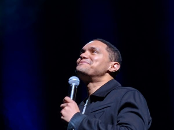 Trevor Noah with microphone