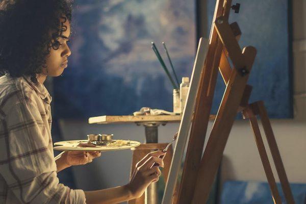 beautiful black female artist