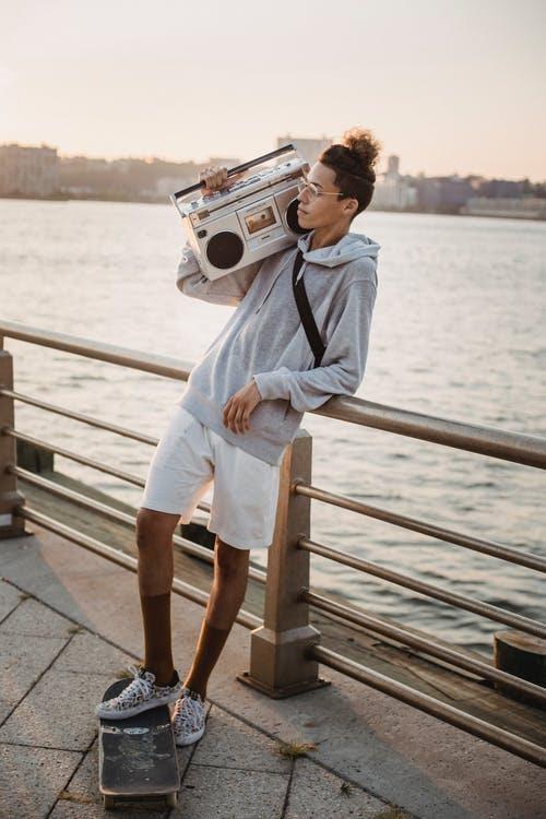 Listening to hip hop